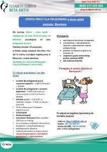 Pielęgniarka–praca w rodzinnym domu opieki niedaleko Mannheim